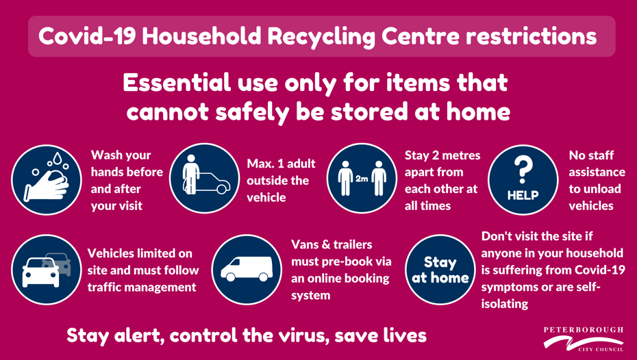 Household recycling centre restrictions